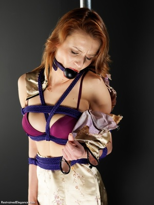 Pretty young babe with mouth restraint t - XXX Dessert - Picture 2