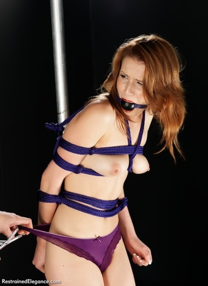 Pretty young babe with mouth restraint t - XXX Dessert - Picture 5