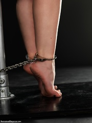 hot chick chained pole