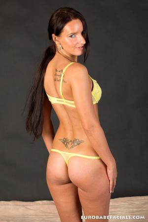 Horny tattooed brunette getting her tigh - XXX Dessert - Picture 3