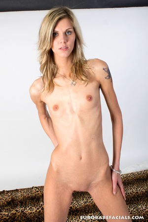 Blue-eyed blonde skinny beauty swallowin - XXX Dessert - Picture 7