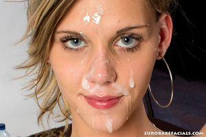 Blue-eyed blonde skinny beauty swallowin - XXX Dessert - Picture 14