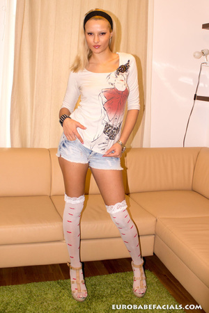 Randy blonde whore with gorgeously tight - XXX Dessert - Picture 1
