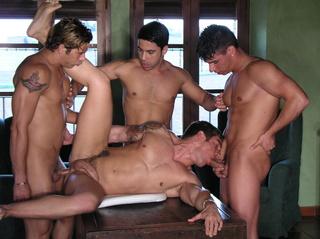 horny gays enjoying hot