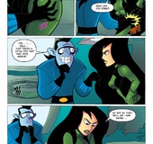 Hot sexual tension as Dr. Drakken just can't resist sexy Shego's cute