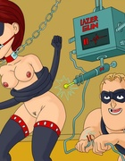 Sexual bondage action as Mr. Incredible fucks Elastic girl with a big