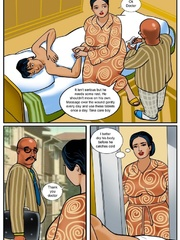 Dirty Indian housewife giving a handjob in the - Picture 4