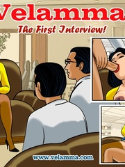 Slim Indian chick gets gangbanged in the office - Picture 1