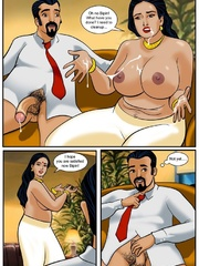 Curvy Indian MILF getting banged variously by her - Picture 5