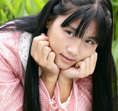 High quality close-ups of Asian college girls' faces