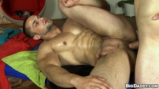 anal, gay, table, two