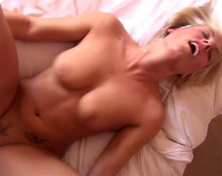 big-titted tattooed blonde slut