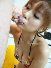 naughty asian chick teases