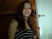 brunette teen whore swallows