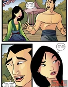 Mulan and Shang in hot sucking action as Mulan sucks cock and Shang eats