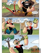 Powerful Popeye defeats big bad villain to rescue sexy Olive Oyl for fucking
