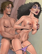 Randy Flynn Rider shoves big cock into pussy of Rapunzel and Mother Gothel