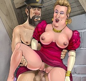 Slutty Bianca Castafiore gets fucked by Tin Tin, Captain Haddock and Ivanovitch