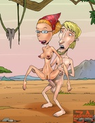 Old Radcliffe fucks chick as Nigel Thornberry bangs Marianne Thornberry