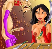Mulan and Chi Fu enjoy kinky bondage, pins and sweet punishing actions