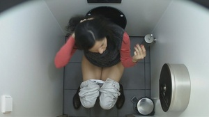 Magnificent sluts getting spied on in the toilet by a hidden camera. - XXXonXXX - Pic 2