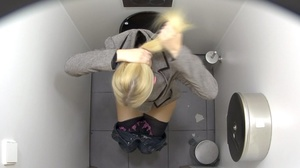 These hot chicks are getting spied on in the toilet. - XXXonXXX - Pic 3