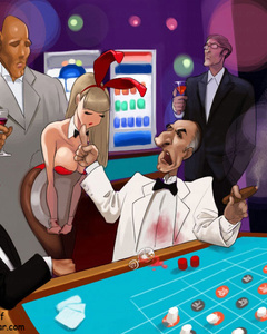 Toon bunny girls humiliated in the casino - Cartoon Sex - Picture 3