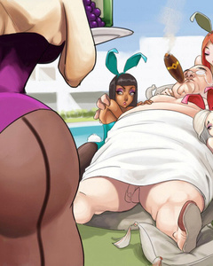 Bodacious bunny girls getting assfucked badly - Cartoon Sex - Picture 1