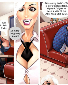Sweaty fat driver got horny in the caf? and - Cartoon Sex - Picture 1