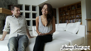 Slim brunette whore gets handled by two  - XXX Dessert - Picture 1