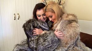 Two lesbian babes in nice fur coats fond - XXX Dessert - Picture 12