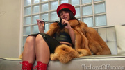 brunette mistress red latex