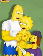 The Simpsons gets nude and dirty playing with dildo and young dick between