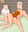 Peter Griffin spying his slutty wifey giving head to his boss