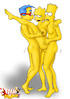 Horny Milhouse and his friend Bart pounding hot Lisa Simpson