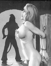 slave girls gets tied