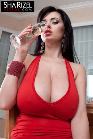 Young and sexy brunette in red dress sho - XXX Dessert - Picture 8