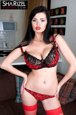 Cute hot and sexy young slut in sexy red - XXX Dessert - Picture 7