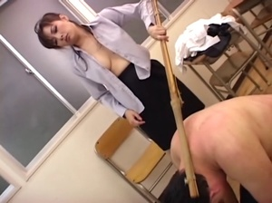 Horny Asian bitch humiliating and punishing enslaved dude on a leash - XXXonXXX - Pic 8
