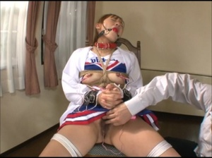 Ponytailed Japanese cheerleader bound and tortured with various bdsm tools - XXXonXXX - Pic 5