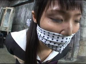Gag-balled Asian teen bound and fucked badly - XXXonXXX - Pic 1