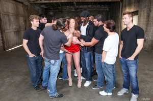 Nast red chick takes a sperm shower from - XXX Dessert - Picture 2