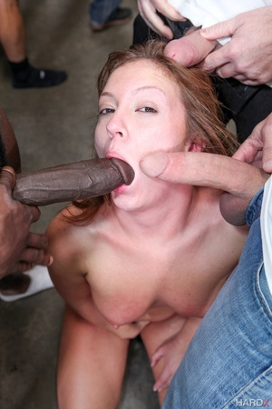 Nast red chick takes a sperm shower from - XXX Dessert - Picture 4
