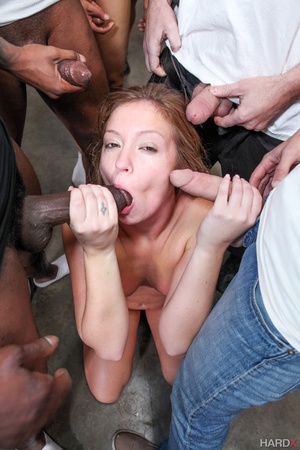 Nast red chick takes a sperm shower from - XXX Dessert - Picture 5