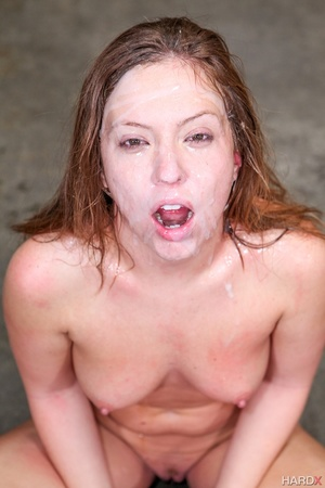 Nast red chick takes a sperm shower from - XXX Dessert - Picture 13