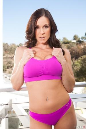 Dirty brunette milf in purple swimsuit e - XXX Dessert - Picture 3