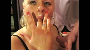 Plum mature ponytailed blondie in fishnet stockings riding a younger guy's rod - XXXonXXX - Pic 5