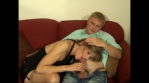 Lovely fair-haired housewife in stockings fucking with her boss - XXXonXXX - Pic 2