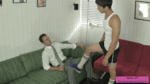Two horny guys love each others feed pas - XXX Dessert - Picture 2