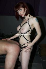 busty brunette mistress drilling